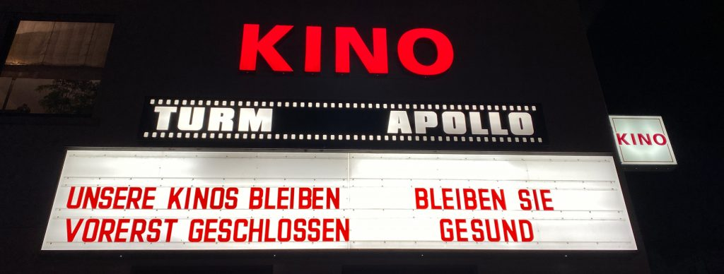 Kino Anzeigetafel